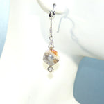 Crazy Lace Agate Flower Earrings