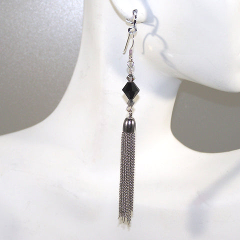 Swarovski Tasseled Earrings (Bicone)