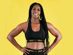 Wizz Black and Yellow Bra