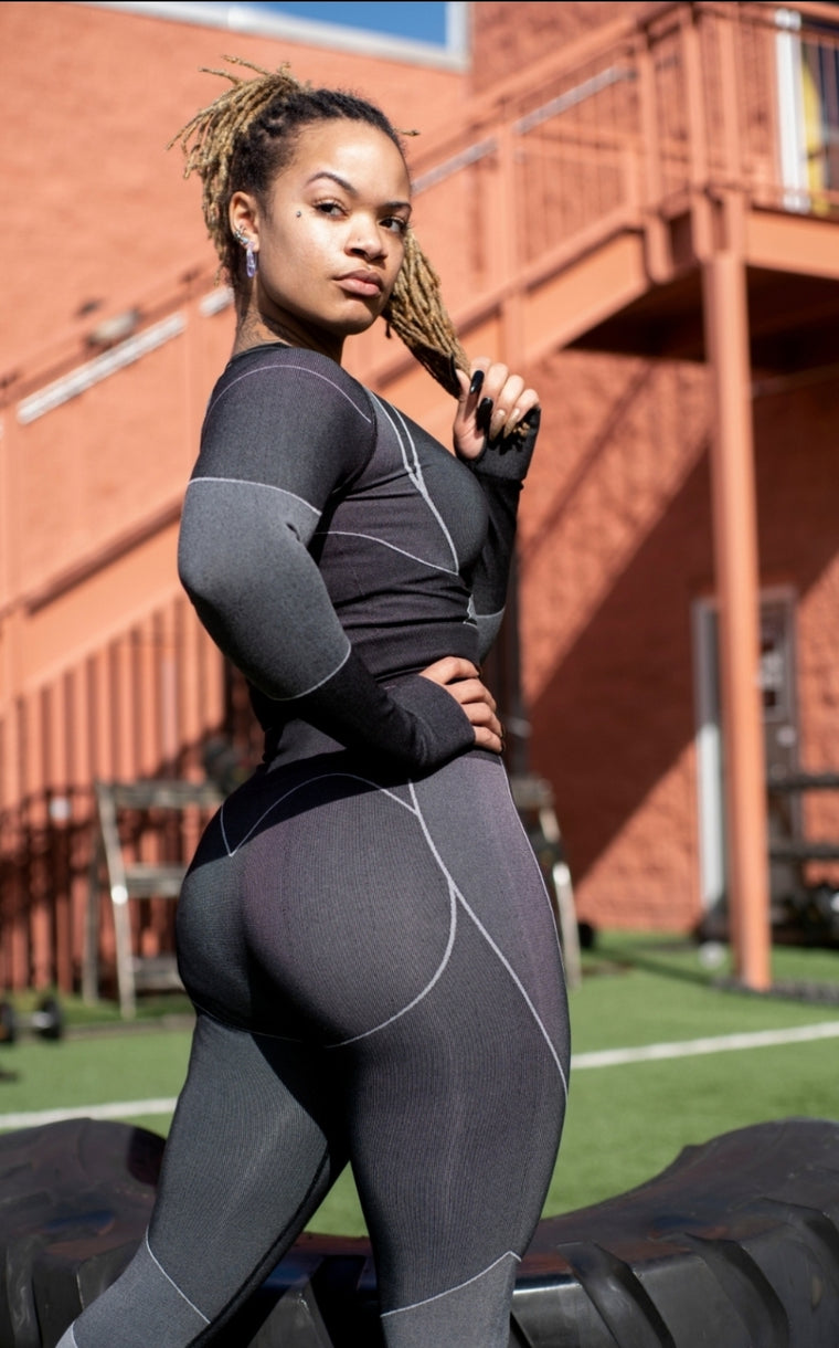 Black/Grey Destiny leggings