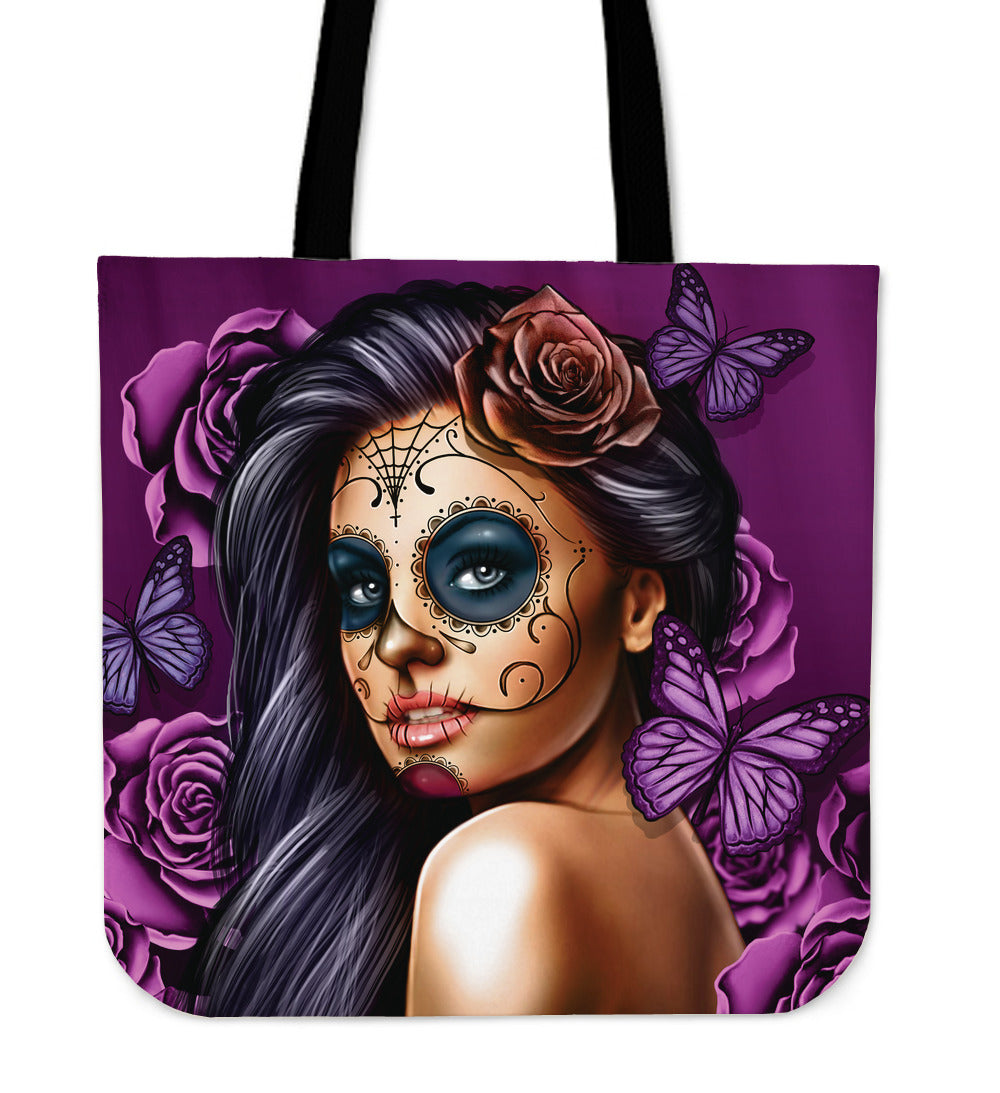 Purple Calavera Girl