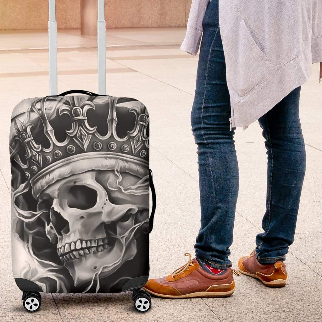 3D Black & White Skull King Design Luggage Covers 007 Luggage Cover