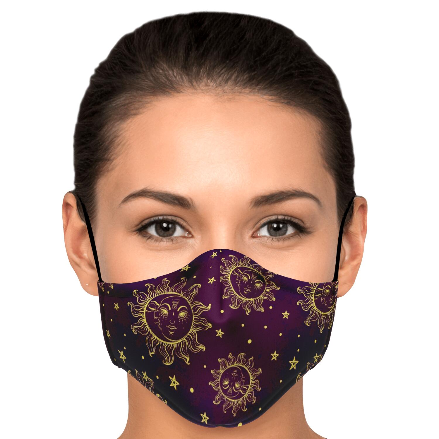 Purple Sun and Moon Mask