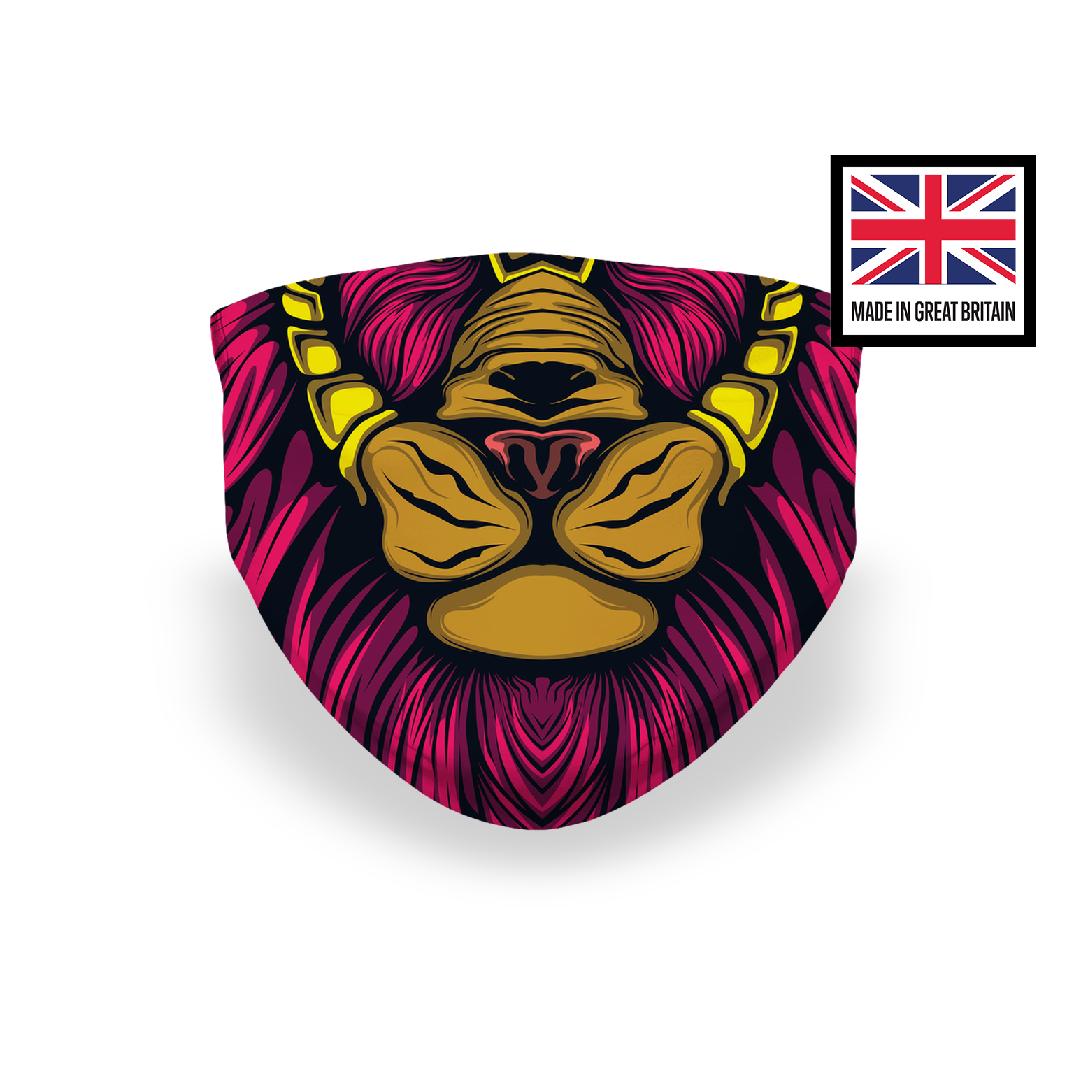 Lion Pink Mouth Sublimation Face Mask