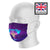 Elephant Mandala Neon Purple Sublimation Face Mask