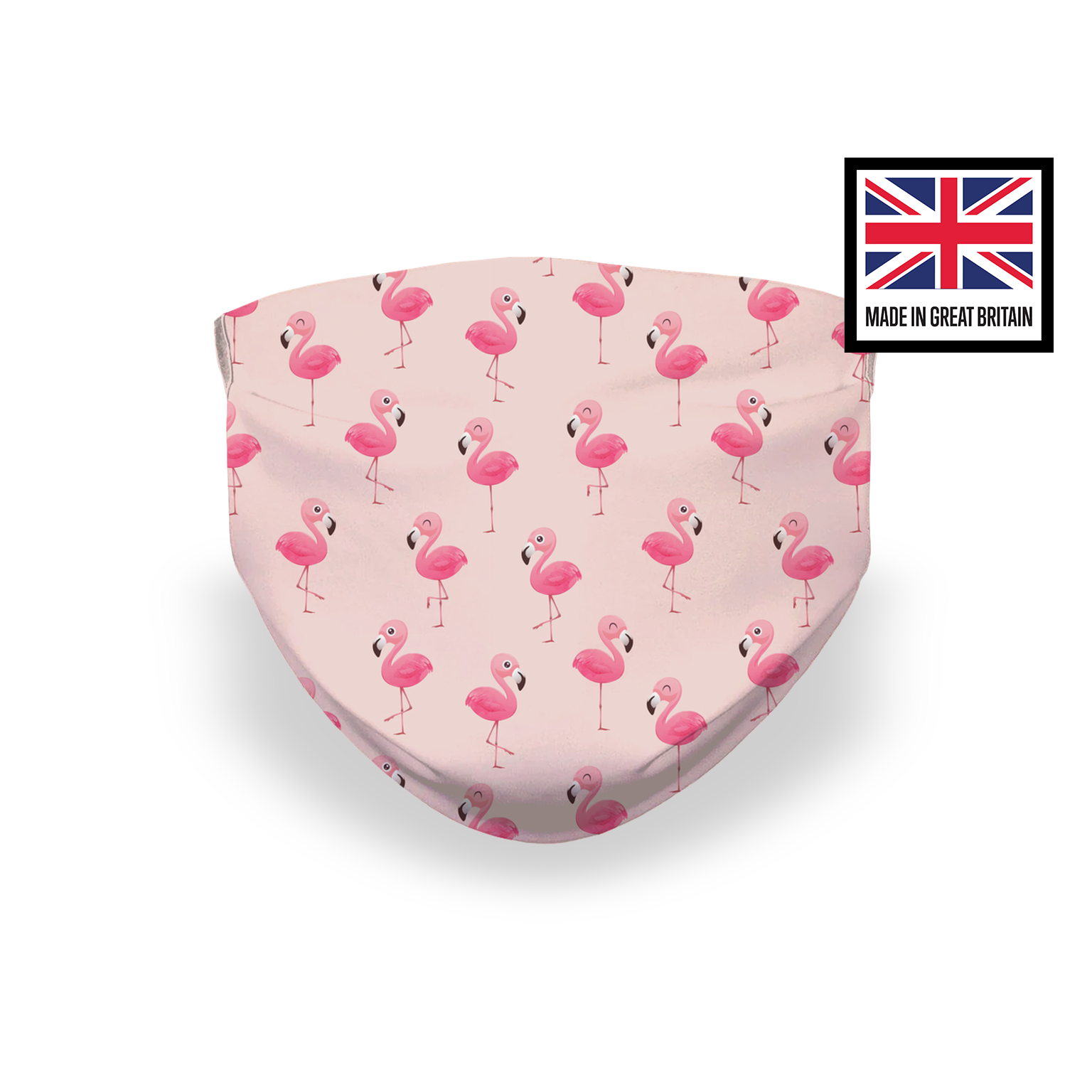 Pink Flamingo Sublimation Face Mask