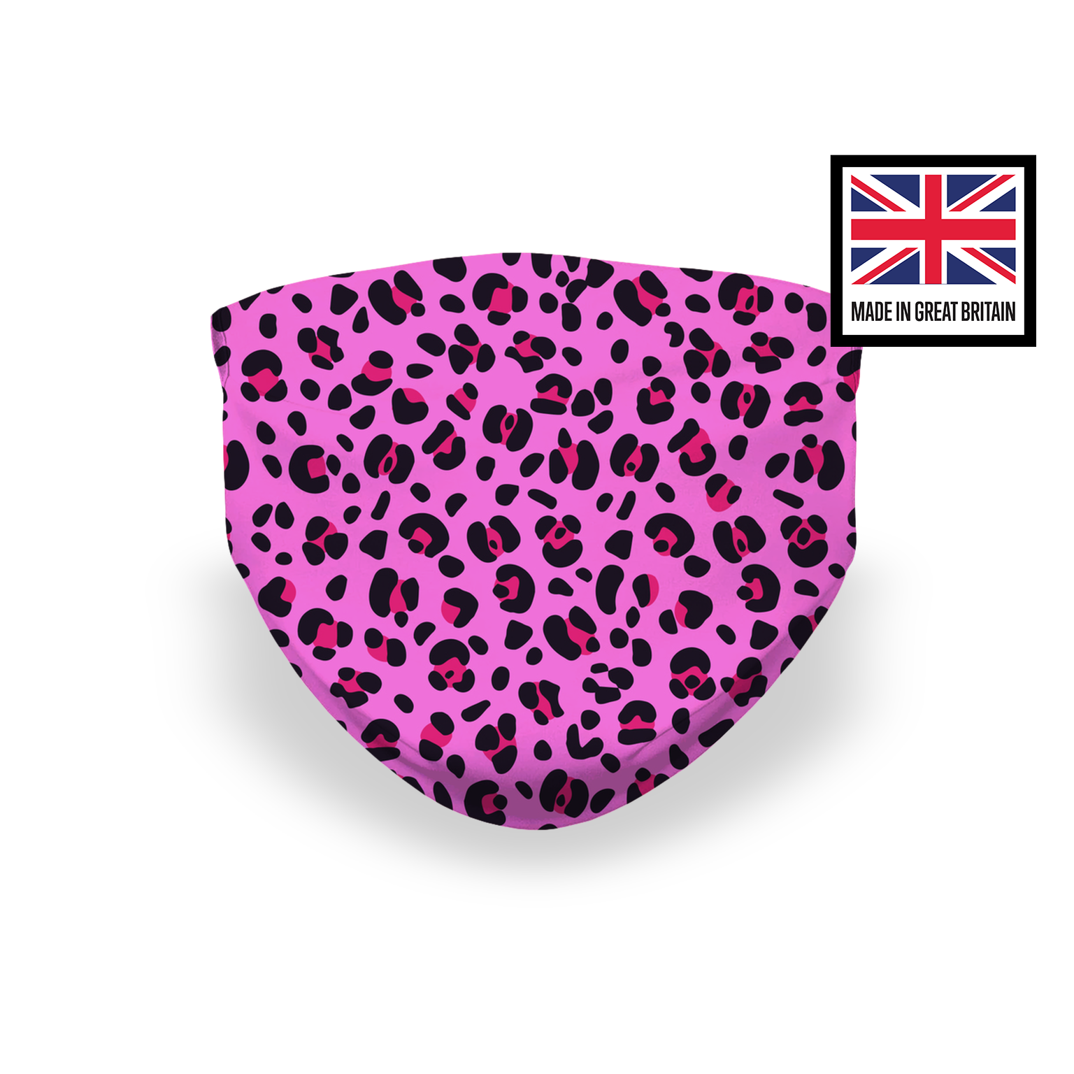 Pink Leopard Print Sublimation Face Mask