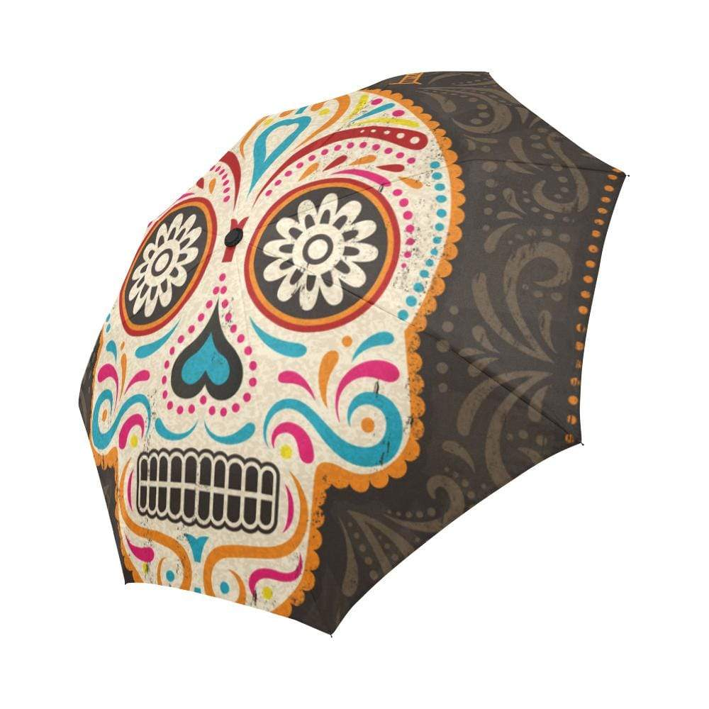 Abstract Day of the Dead Auto-Foldable Umbrella Auto-Foldable Umbrella Auto-Foldable Umbrella / One Size