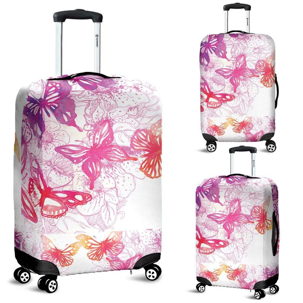 Colorful Butterfly Luggage Cover Luggage Cover