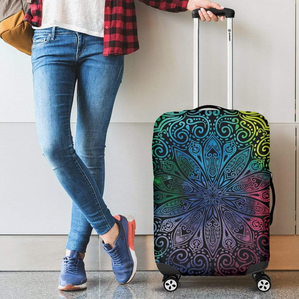 Colorful Mandala Luggage Cover Luggage Cover