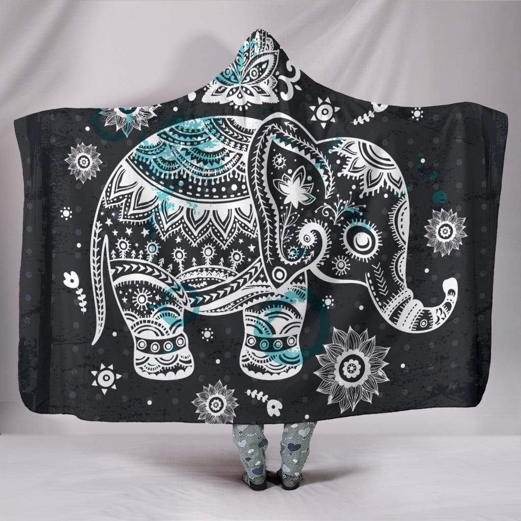 "Elephant Hooded Blanket Hooded Blanket Hooded Blanket / Youth 60""x45"""