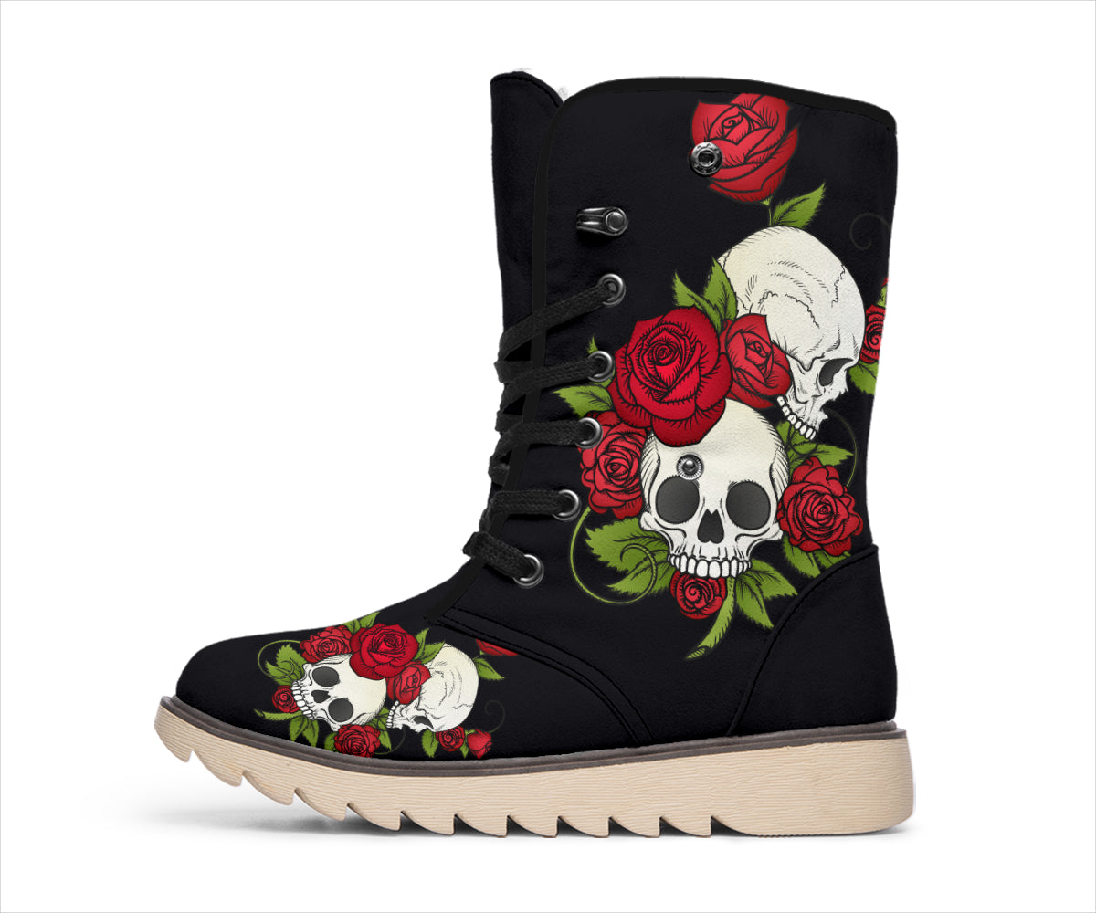 Skulls And Roses Black