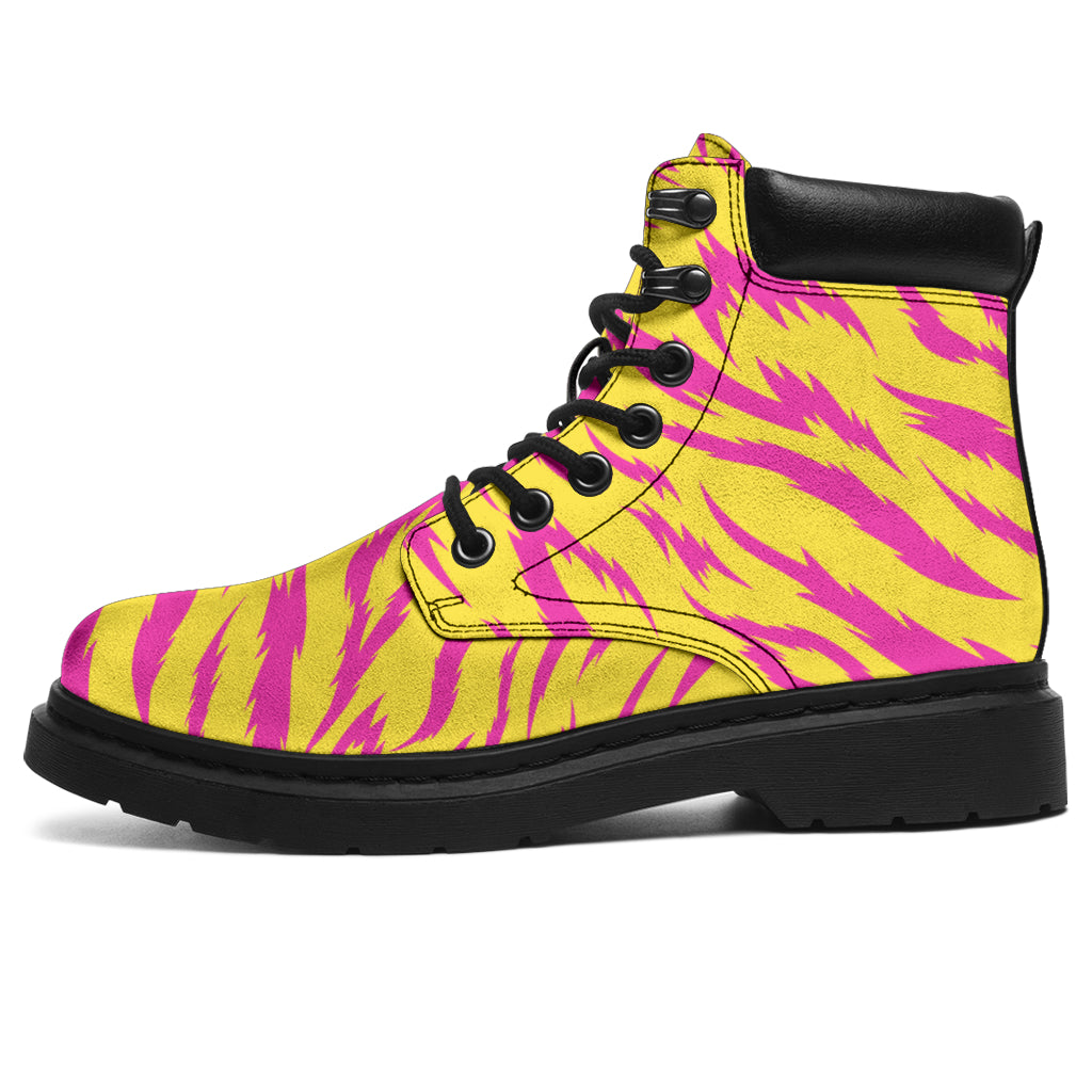 Tiger Print Yellow Pink