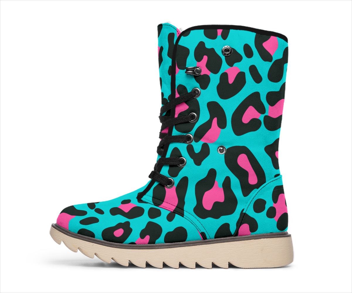 Leopard Print Pink Turquoise