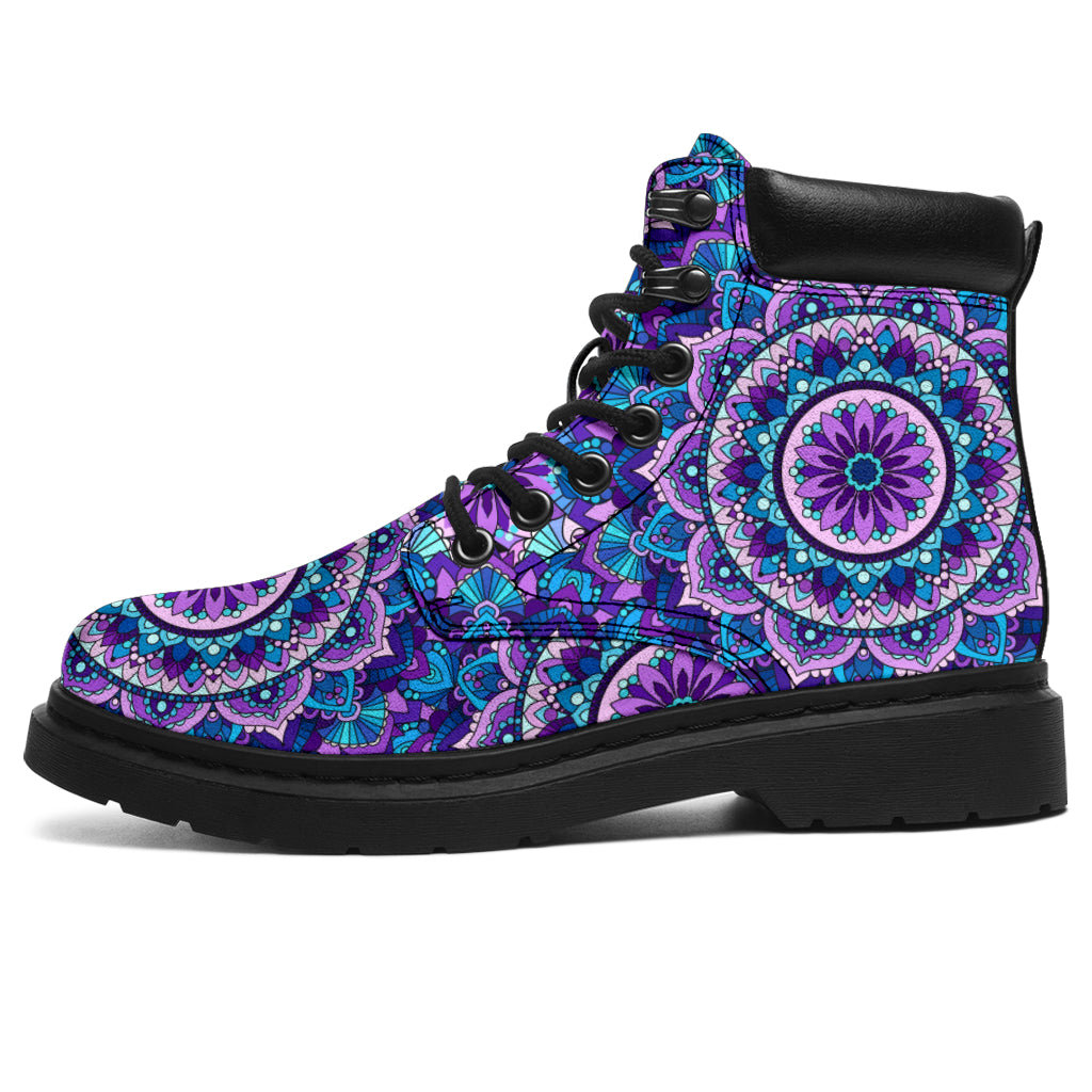 Mandala Purple Blue Pattern