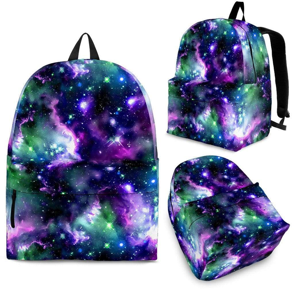 Green and purple universe Backpack Backpack