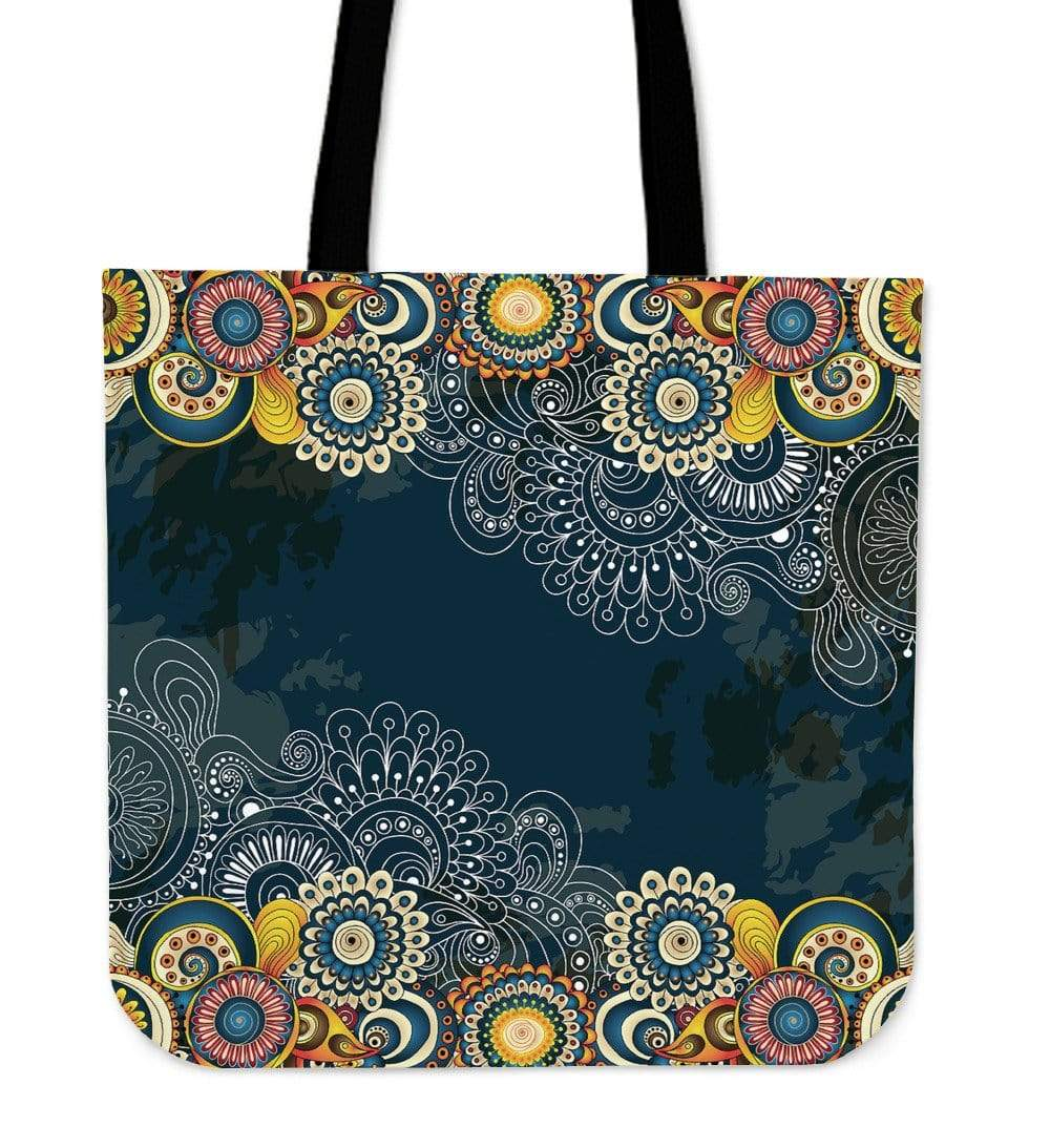 Henna Flower Tote Cloth Tote