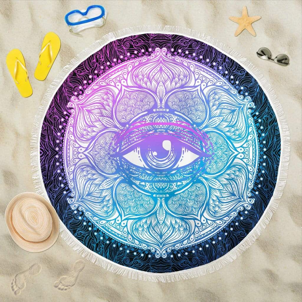 Lotus Eye Beach Blankets Lotus Eye Beach Blankets