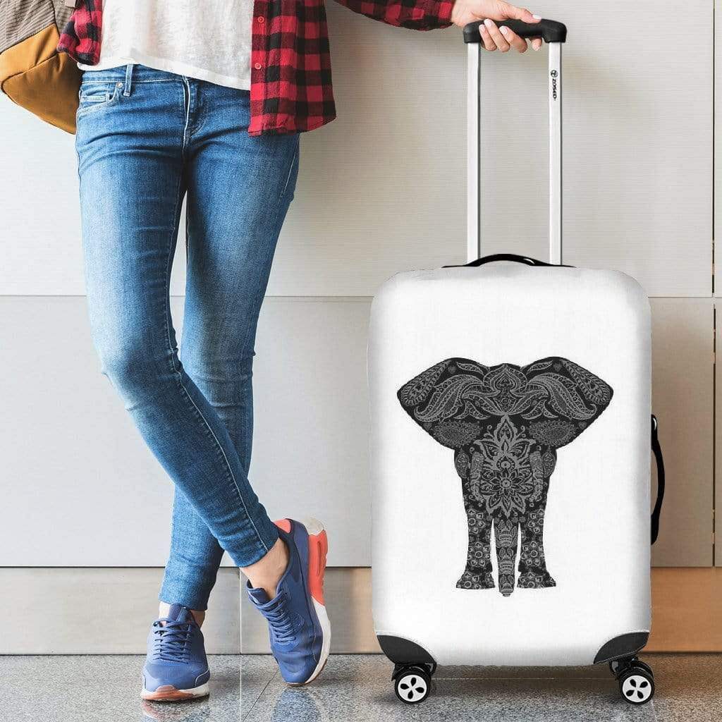 Luggage Cover ~ Elephant Luggage Cover Luggage Covers / Small 18-22 in / 45-55 cm