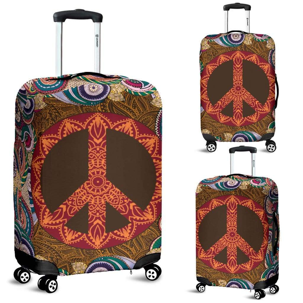 Mandala Peace Luggage Cover Luggage Cover Luggage Covers / Small 18-22 in / 45-55 cm
