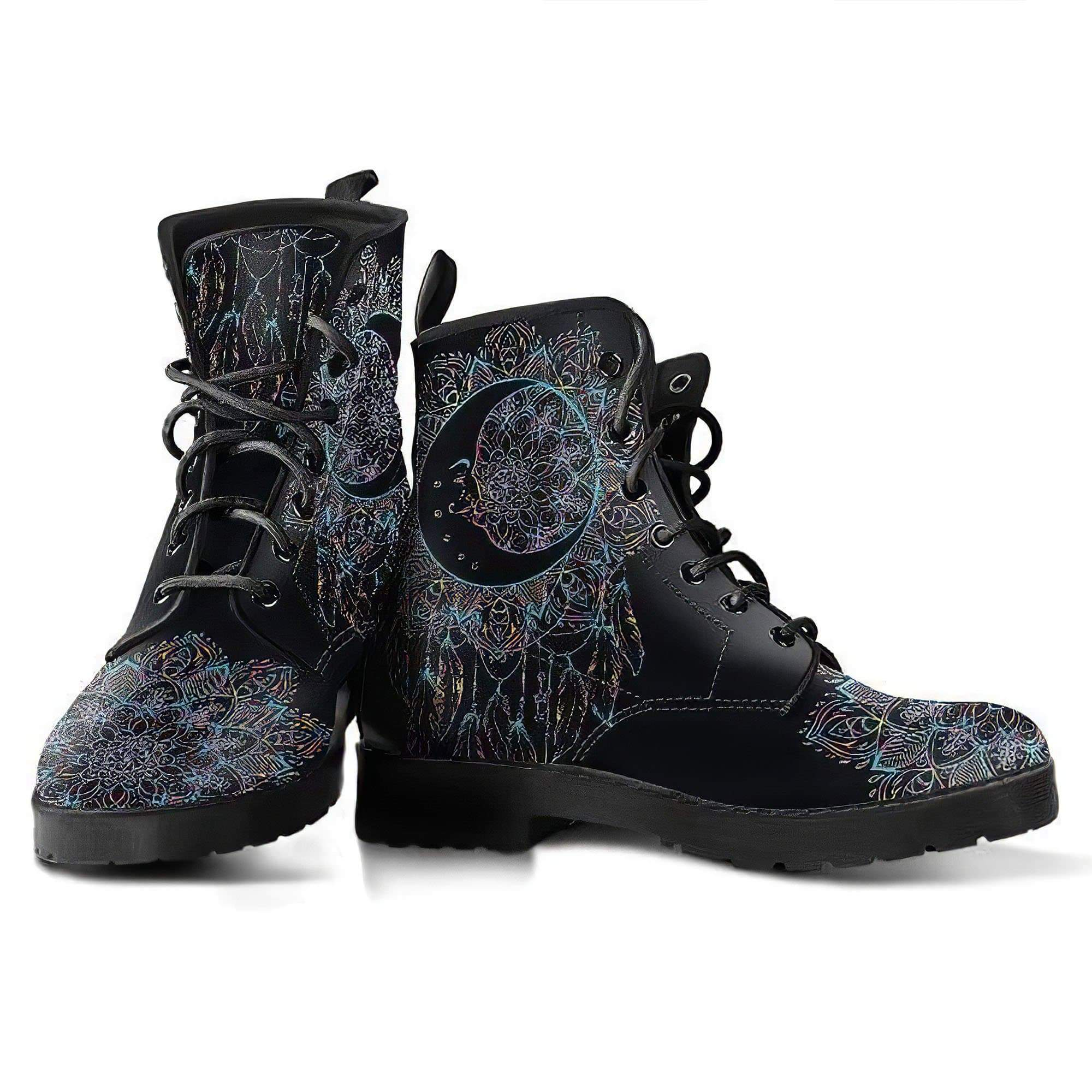 Moon Dream Catcher Women's Leather Boots Women's Leather Boots