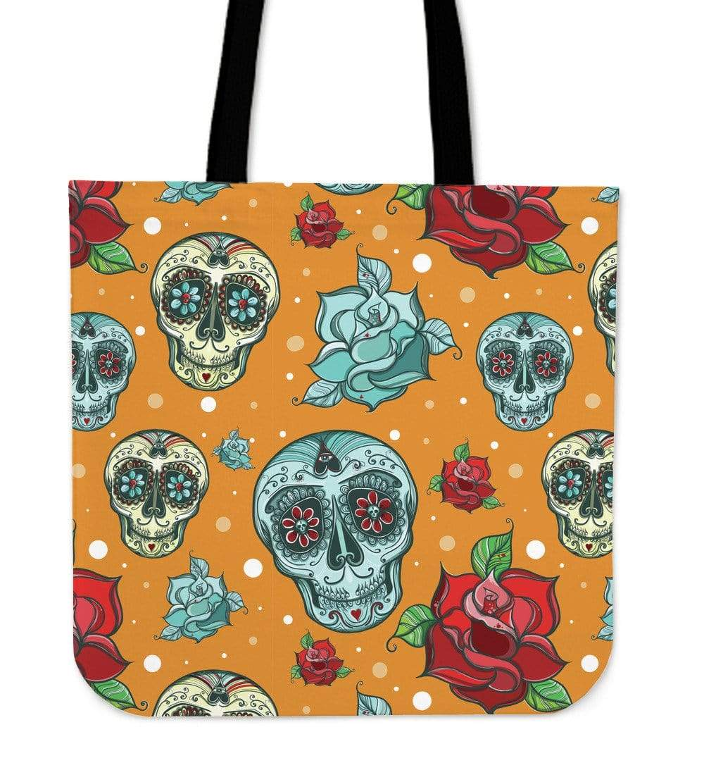 Orange Skull Cloth Tote Bag Orange Skull Cloth Tote Bag