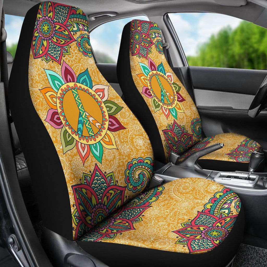Peace Mandala Car Seat Covers Car Seat Cover Peace Mandala Car Seat Covers
