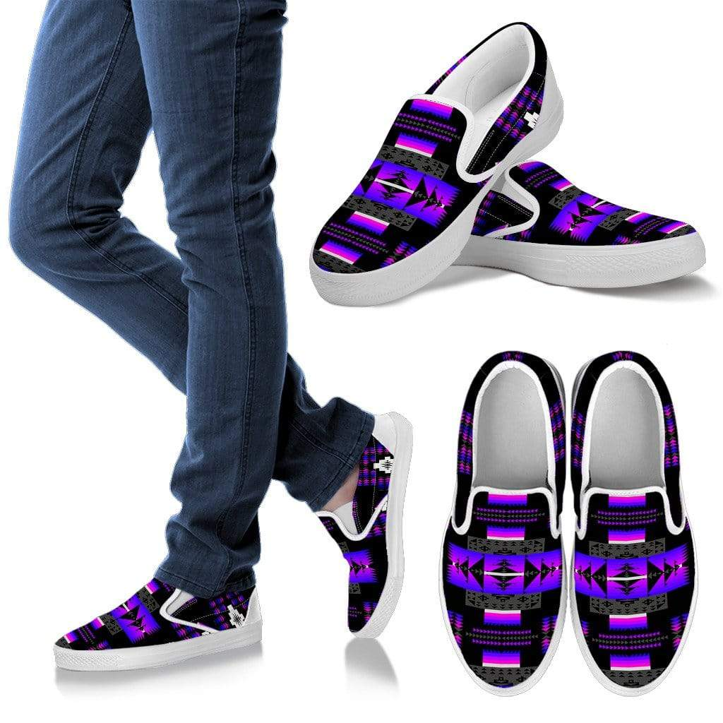Seven Tribes Purple Thunder Men's Slip Ons Men's Sneakers Kid's Sneakers / US8 (EU40)
