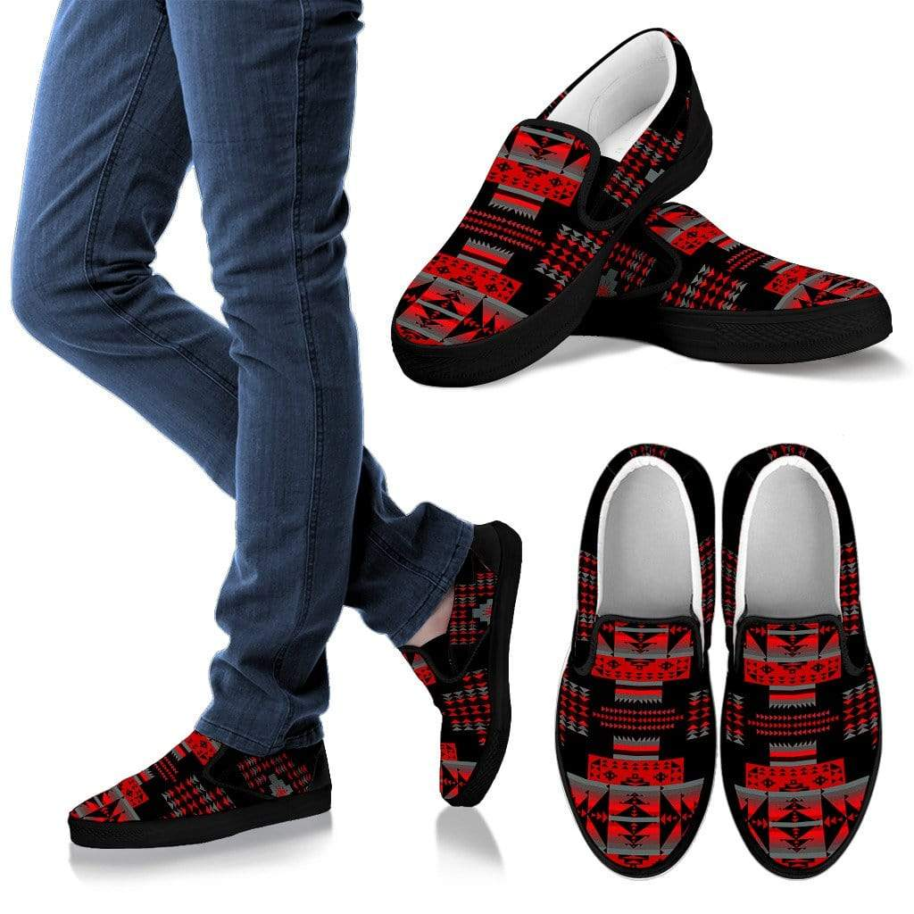 Seven Tribes Red Fire Men's Slip Ons Men's Sneakers Kid's Sneakers / US8 (EU40)