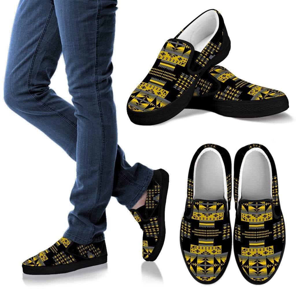 Seven Tribes Yellow Ocre Men's Slip Ons Men's Sneakers Kid's Sneakers / US8 (EU40)