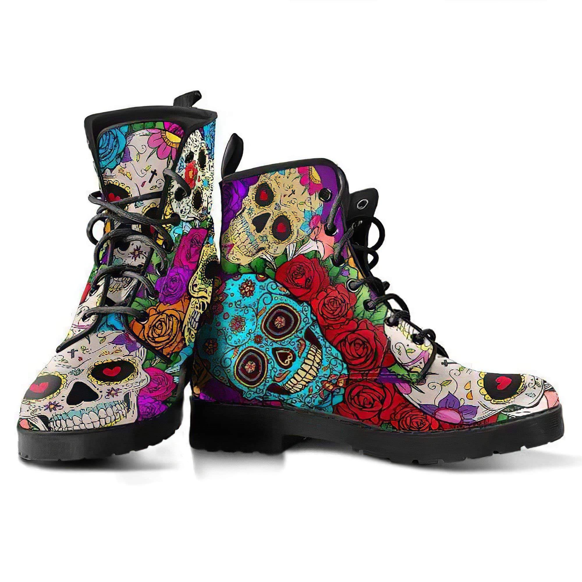 Skulls Handcrafted Boots Women's Leather Boots