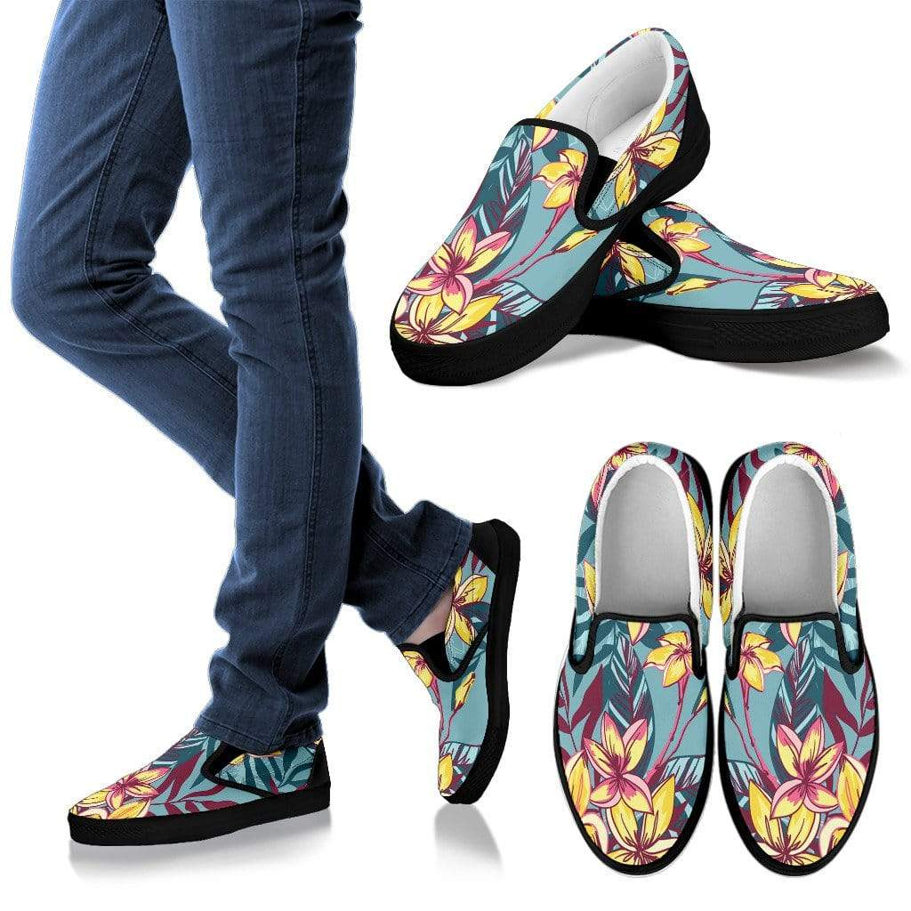 Slip On - Men Hawaiian Blk Sole Men's Sneakers Kid's Sneakers / US8 (EU40)