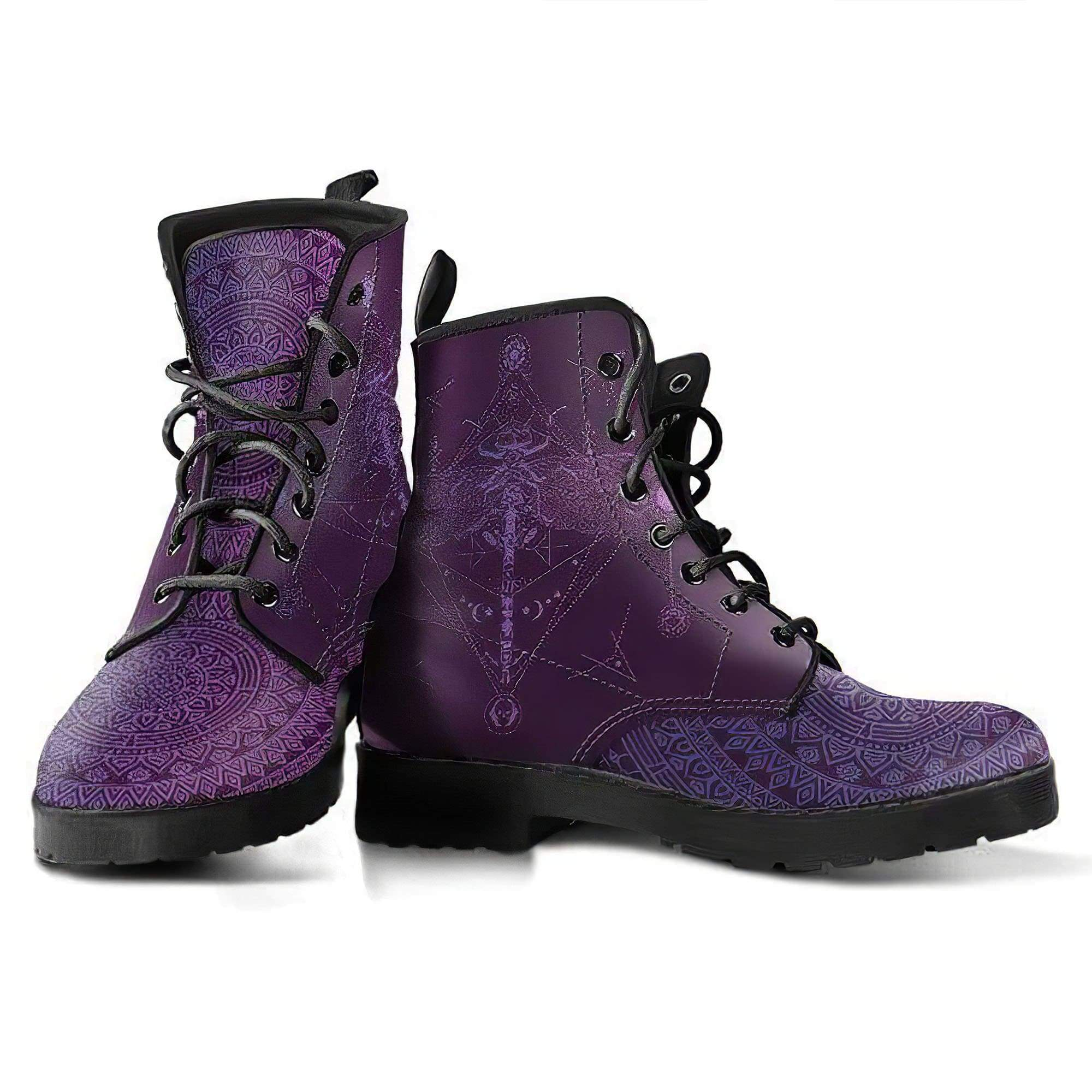 Spiritual Dragonfly Handcrafted Boots Women's Leather Boots
