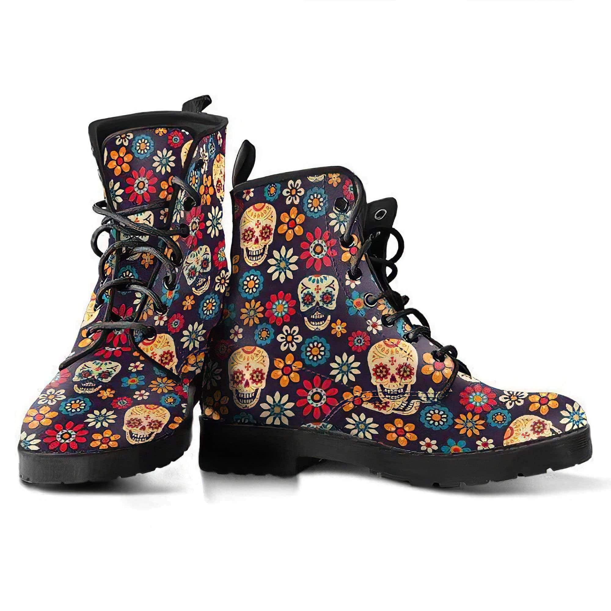 Sugar Skull 1 Handcrafted Boots Women's Leather Boots