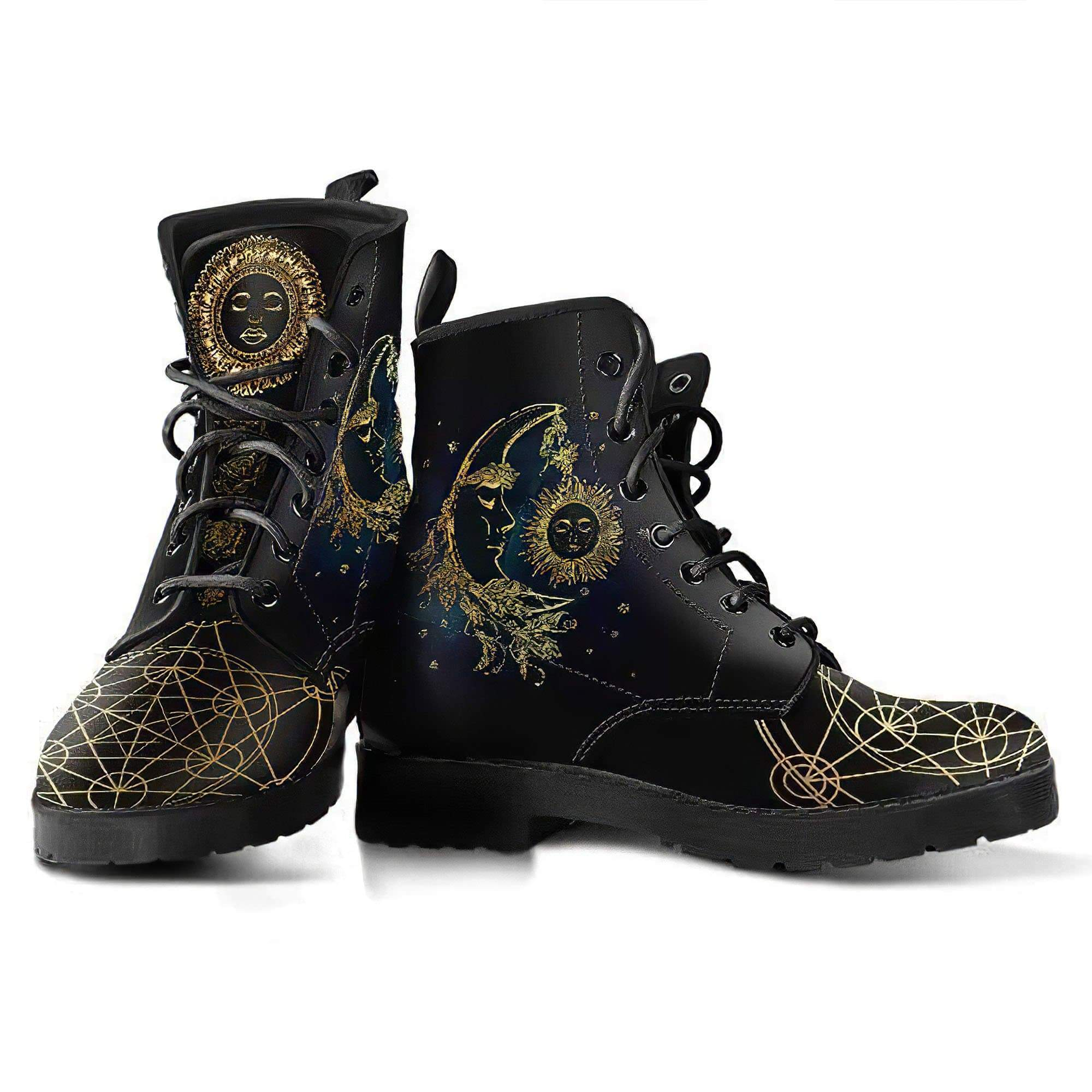 Sun & Moon Women's Leather Boots Women's Leather Boots