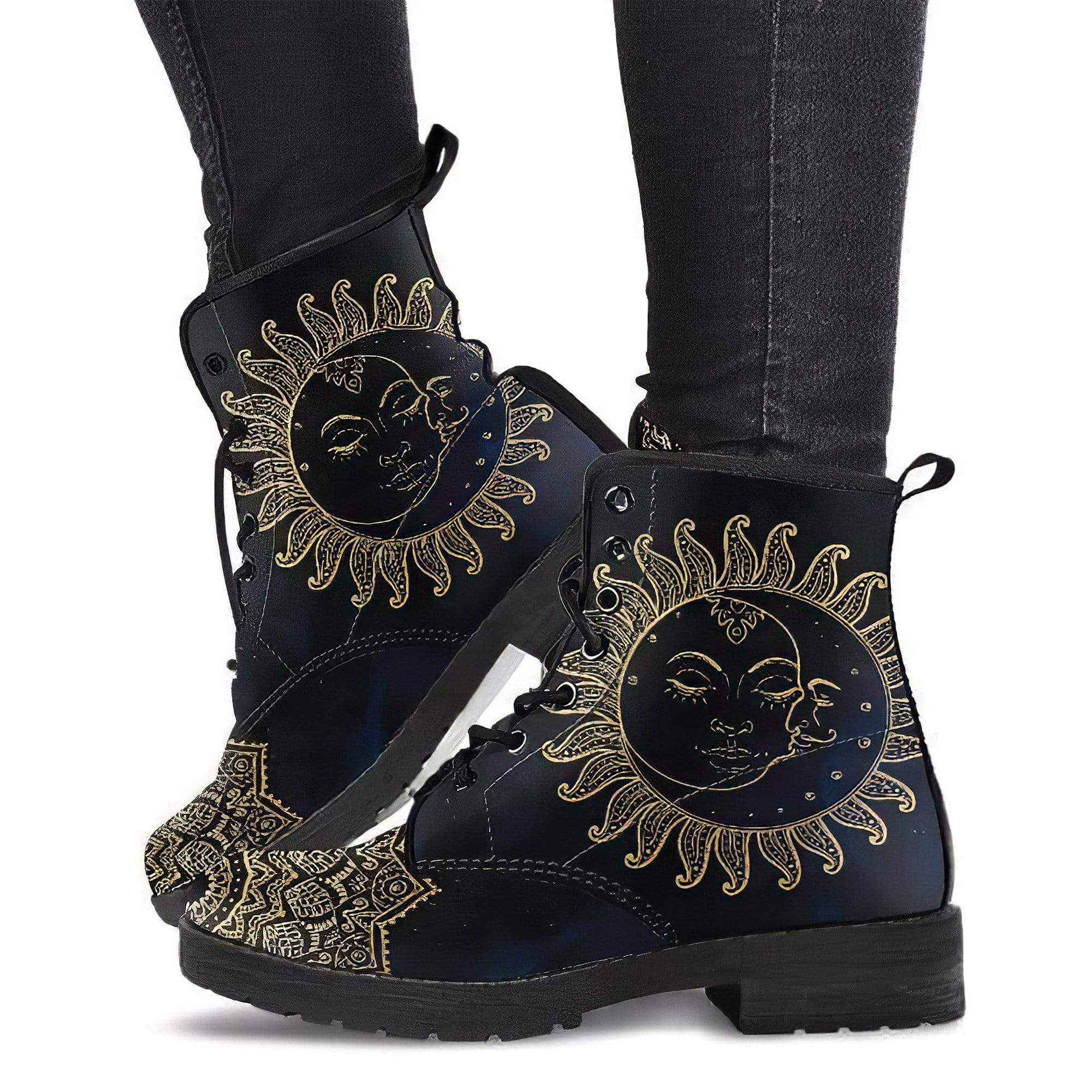 Sun Moon Women's Leather Boots Women's Leather Boots