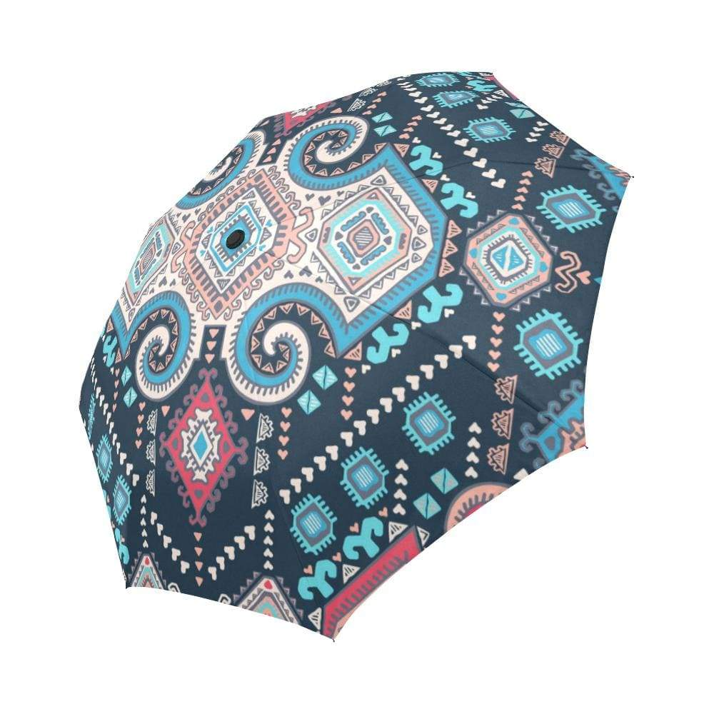 Tribal Mexican Vintage Ethnic Auto-Foldable Umbrella Auto-Foldable Umbrella One Size