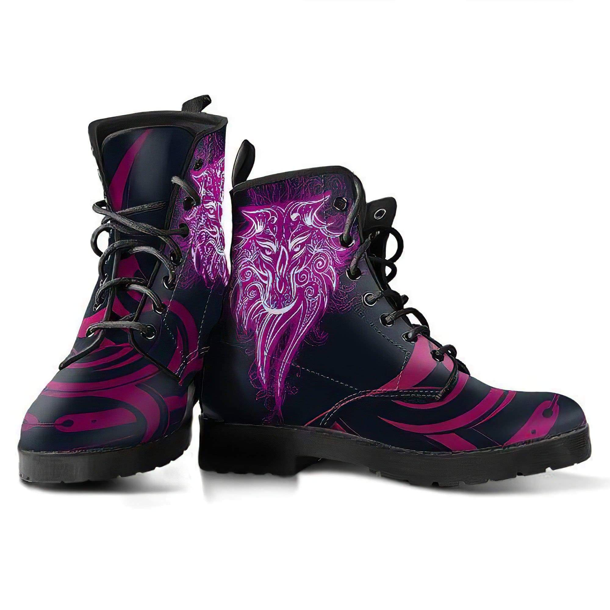 Tribal Wolf - Women's Leather Boots Women's Leather Boots