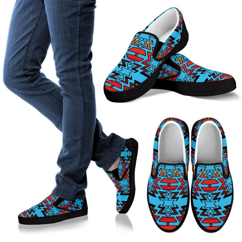 Turquoise Fire and Turquoises Men's Sopo Slip ons Men's Slip Ons