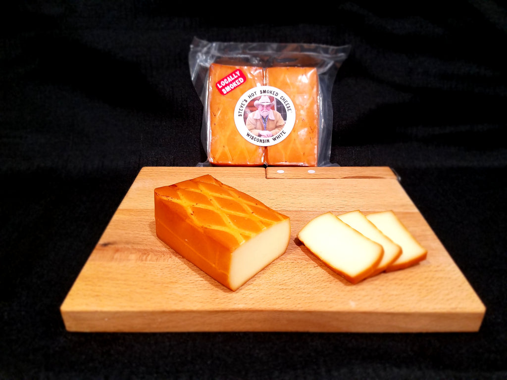Steve's Hot Smoked Wisconsin White Cheese by Bigfoot Smoked Products