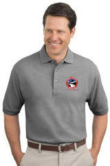 Men's Cotton Pique Polo Shirt with Embroidered NMA Logo