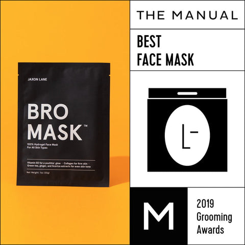 Bro Mask, Winner of Best Face Mask in The Manual Guide's 2019 Grooming Awards