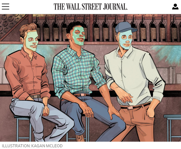 wsj jaxon lane bro mask - men's sheet mask wall street journal
