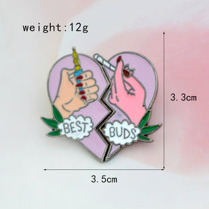 BEST BUDS 2pcs Enamel Pin Set