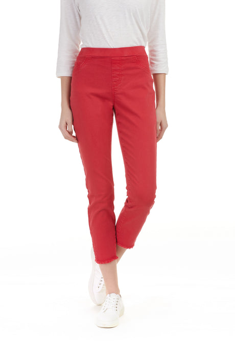 Jeans 3/4 rouge Charlie B