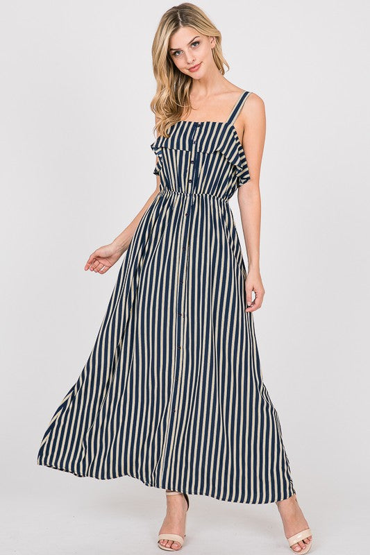 Striped Maxi Dress - Also available in XL
