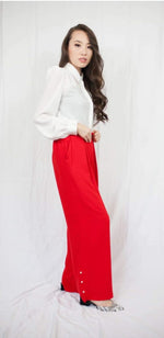 Red Pearl Pants