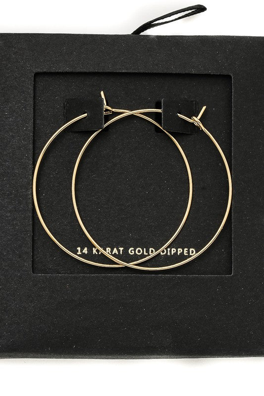 14K Gold Dipped Hoop