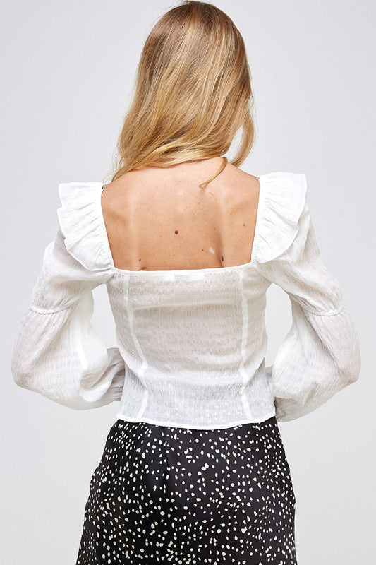 Carrie Ruffle Top