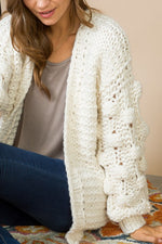 Bubble Sleeve Sweater Cardigan - LIMITED STOCK